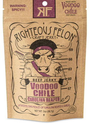 Righteous Felon Craft Jerky Voodoo Chile