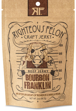 Righteous Felon Craft Jerky Bourbon Franklin