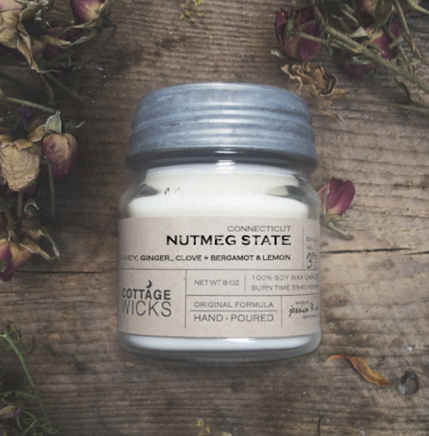 Cottage Wicks Nutmeg State Candle