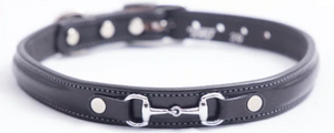 Tory Leather Dog Collar Raised Bit (Assorted Colors)