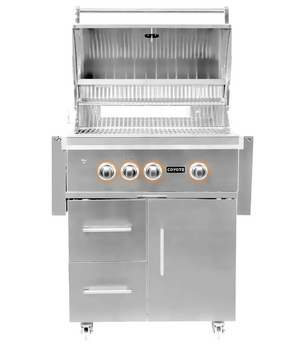 Coyote S-Series 30-Inch 3-Burner Propane Gas Grill With RapidSear Infrared Burner & Rotisserie - C2SL30LP-FS