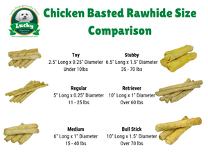 Chicken Basted Rawhide Dog Treats Bull Sticks For Large Dogs