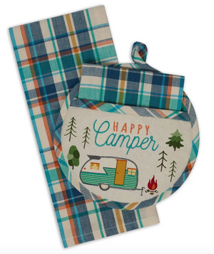 Happy Camper Potholder Gift Set