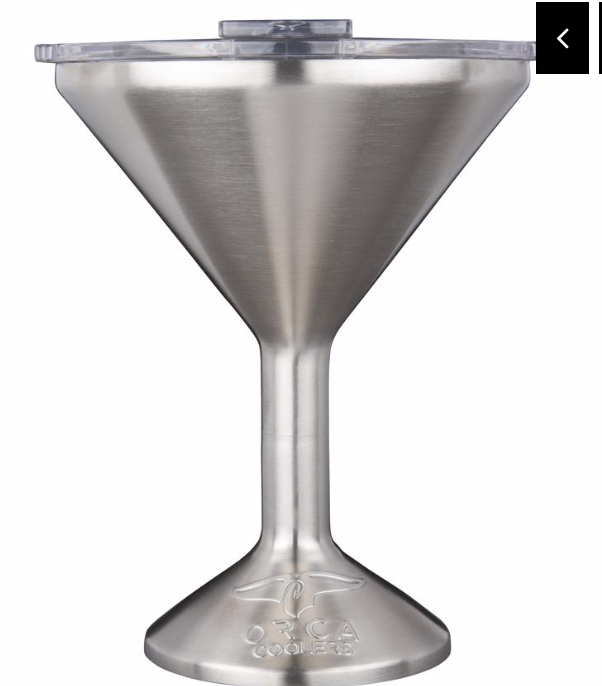 "ORCA Stainless Steel Chasertini 8 oz with Clear Lid ""Great for that Holiday Martini"""
