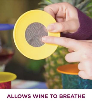 Drink Tops Ventilated Wine Glass Covers.