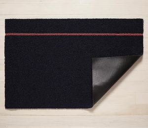 "Chilewich Simple Stripe Mat 18x28"" Navy Coral"