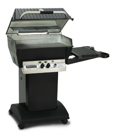 Broilmaster H3X Package. Includes Black Steel Cart on Wheels, Side Shelf and Cover