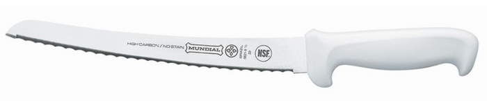 "Mundial 10"" Curved Bread Serrated"