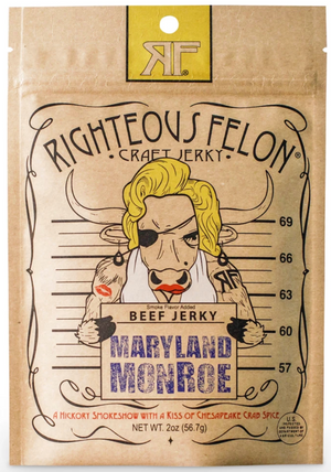 Righteous Felon Craft Jerky Maryland Monroe