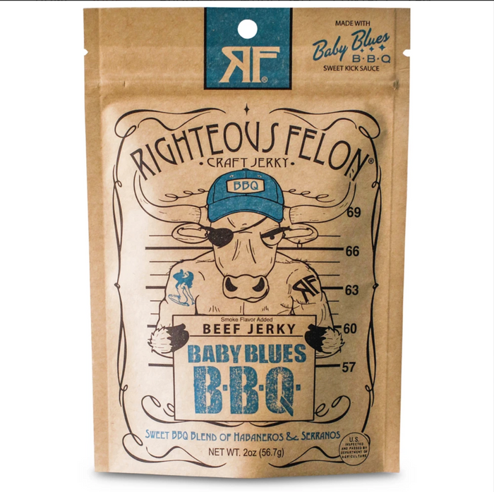 Righteous Felon Craft Jerky Baby Blues BBQ