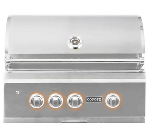 Coyote S-Series 30-Inch 3-Burner Built-In Propane Gas Grill With RapidSear Infrared Burner & Rotisserie - C2SL30LP