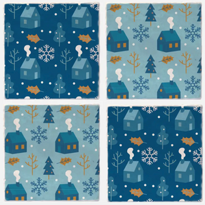 Winter Blue Coasters