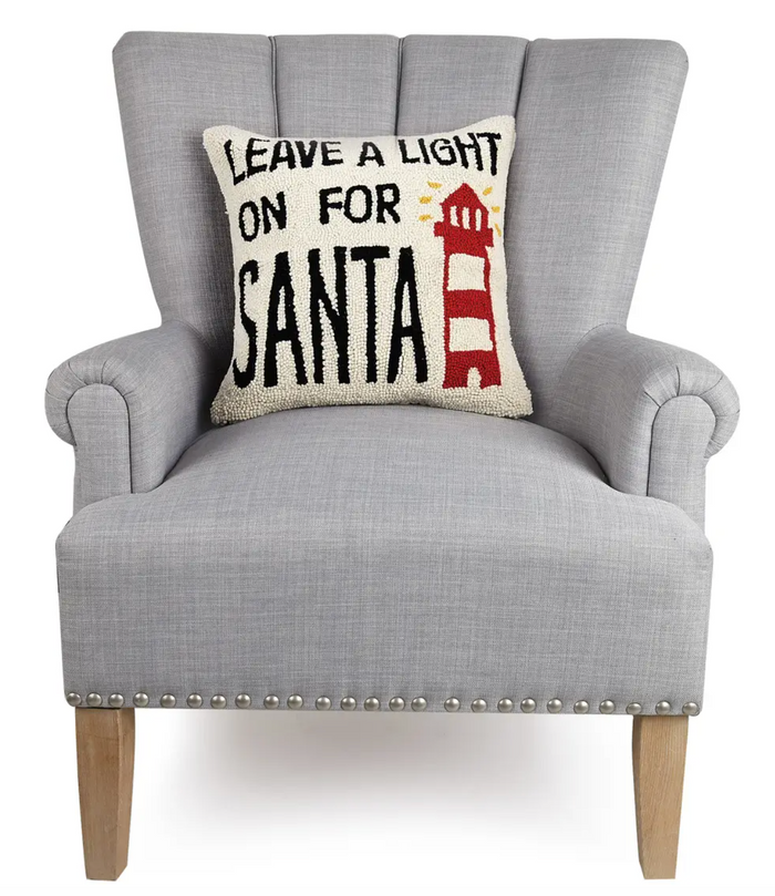 Leave A Light On For Santa Hook Pillow - Christmas