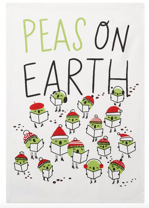 Peas On Earth Kitchen Towel (Set of 2)