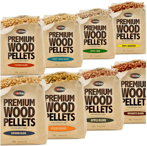 Kona 3 Pack Wood Smoking Pellets and Smoker Tube Gift Set. (Assorted Sets)