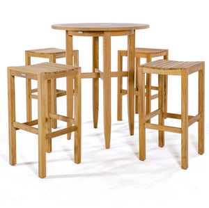 "Somerset 5pc Pub Set - Round 36"" Dia Bar Table - 70533"