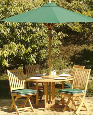 "5pc Barbuda Teak Dining Set - Round 48"" Dia Folding Table - 70036"