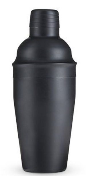 18-Ounce Matte Black Cocktail Shaker by True
