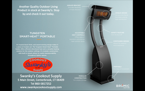 Bromic Heating Tungsten Smart-Heat 38,500 BTU Propane Gas Freestanding Portable Patio Heater - BH0510001 $1,700.00