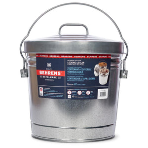Behrens Galvanized Steel Round with Locking Lid