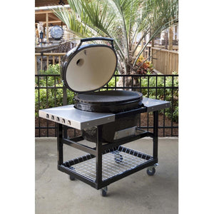 Primo Oval XL Ceramic Kamado Grill On Steel Cart With Stainless Side Tables $2,077.00