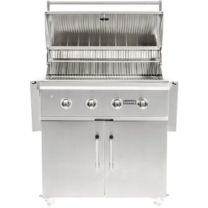 "Coyote C-Series 36-Inch 4-Burner Propane Gas Grill - C2C36LP + C1S36CT ""In Stock 1/2/2021"""