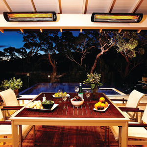 Bromic Heating Tungsten Smart-Heat 56-Inch 6000W Dual Element 240V Electric Infrared Patio Heater - Black -Model # BH0420033 (Check Availability)