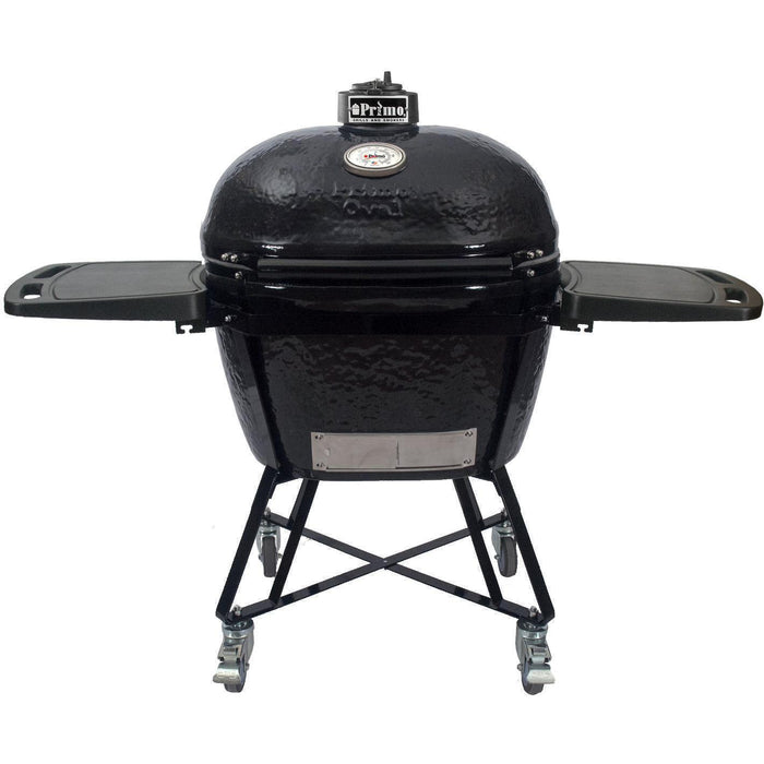 Primo All-In-One Oval XL Ceramic Kamado Grill With Cradle & Side Shelves $1,867.97