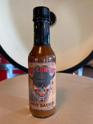 Evil Cowboy Hot Sauce - Wood Gift Cylinder - Smok'd Ghost Case -5oz. $12.97