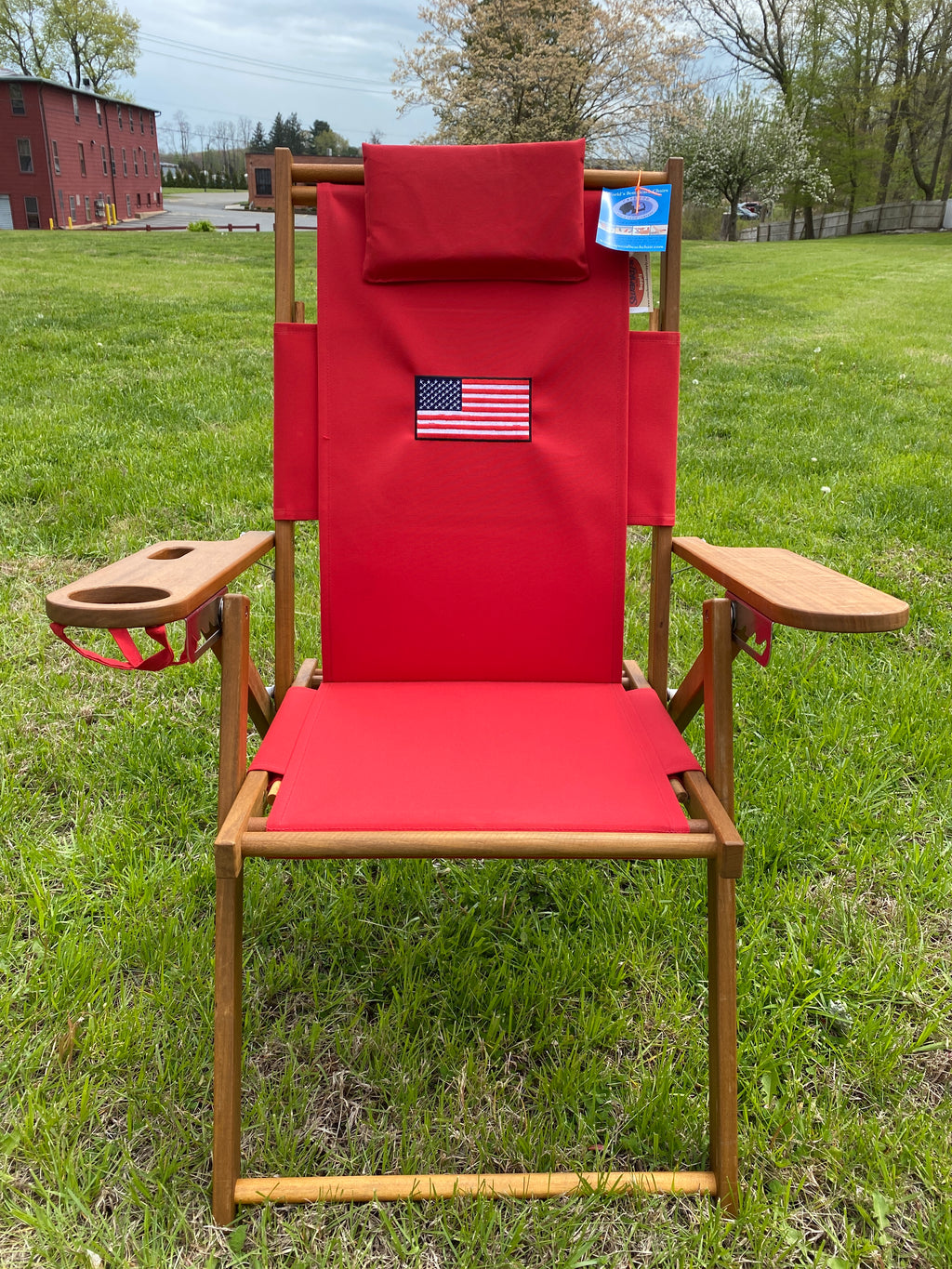 Cape Cod Chair Nauset Heights Embroidered Flag (Red)