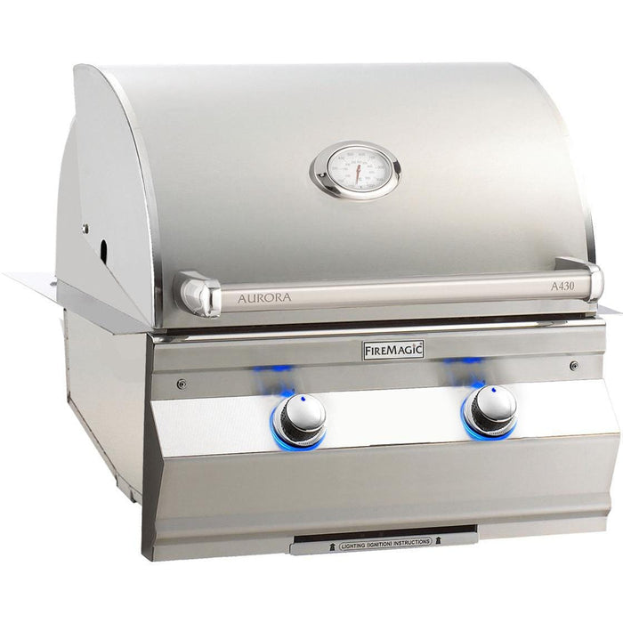 Fire Magic Aurora A430I 24-Inch Built-In Propane Gas Grill With Analog Thermometer - A430I-7EAP