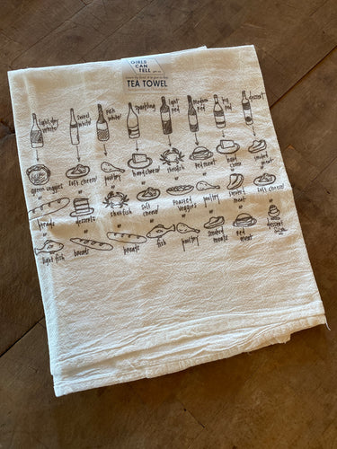 Girls Can Tell Wine Tea Towel