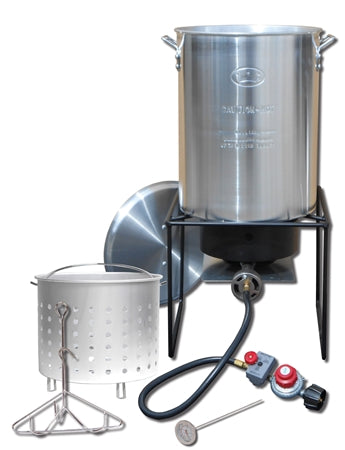 29 Qt Aluminum Turkey Frying, Boiling and Steaming Cooker Package  CKR 12RTFB