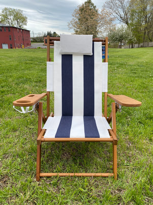 Cape Cod Beach Chair Nauset (Blue and White Stripe)
