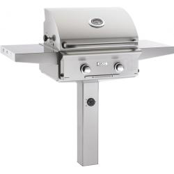 American Outdoor Grill L-Series 24-Inch 2-Burner Propane Gas Grill On In-Ground Post - 24PGL-00SP $2,747.00