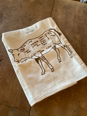 Girls Can Tell Cow Tea Towel
