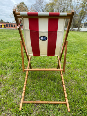 Cape Cod Beach Chair Nantucket Sling (Red and White Stripe)