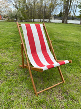 Load image into Gallery viewer, Cape Cod Beach Chair Nantucket Sling (Red and White Stripe)