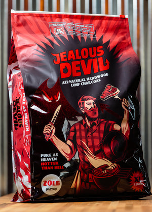 Jealous Devil - Lump Charcoal - 20lbs $29.99