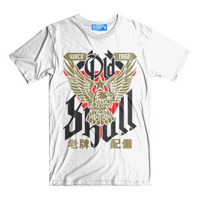 T-Shirt OLDSKULL Ultimate N°498 White Gold Eagle - Vintage USA OBAWI Tee-shirts store
