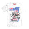 T-Shirt OLDSKULL Express HD N°71 White - Speed racing - Motorcycle design OBAWI Tee-shirts store
