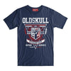 T-Shirt OLDSKULL Express HD N°66 Navy Blue – Repair Service - Motorcycle design OBAWI Tee-shirts store