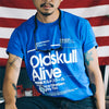 T-Shirt OLDSKULL Ultimate Alive N°480 Blue - Japanese Style OBAWI Tee-shirts store