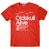 T-Shirt OLDSKULL Ultimate Alive N°480 Red - Japanese Style OBAWI Tee-shirts store