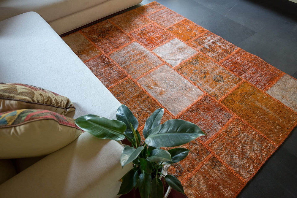 patchwork	patchwork design rug	hand knotted rug	persian rug	persian home decor	oriental tribal art	rustic home decor	rustic rug	distressed handmade	traditional design	vintage	persian carpet	living room rug