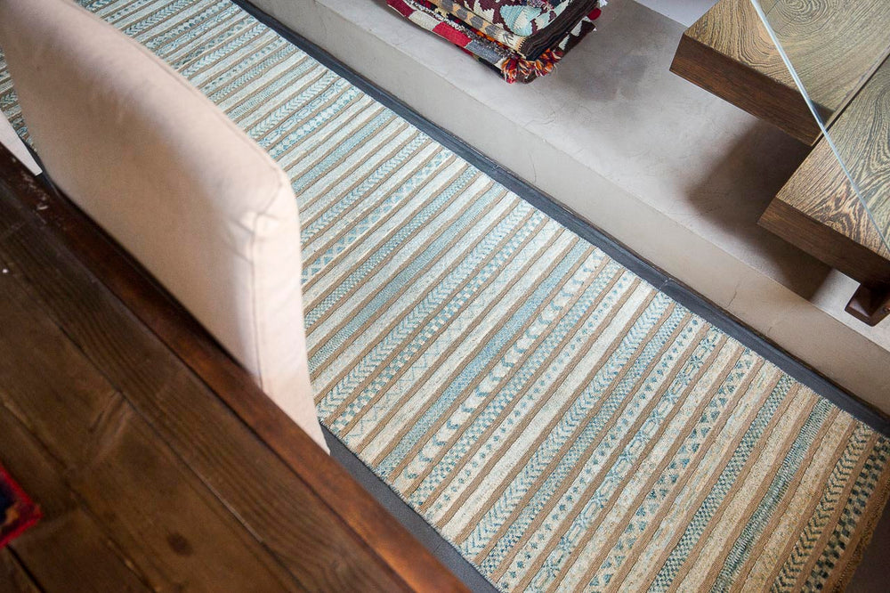 Modern Afghan Barjasta rug handmade with naturally dyed wools
