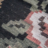 Turkish Kilim patchwork rug handwoven with quality wools