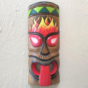 12in Flame and Tongue Tiki Mask by Caribbean Rays