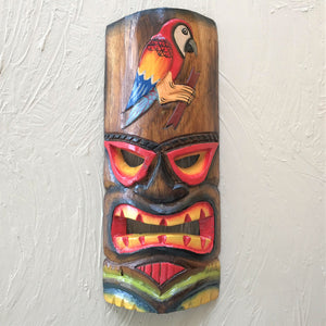 12in Parrot Tiki Mask by Caribbean Rays