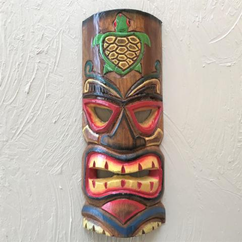 12in Turtle Tiki Mask by Caribbean Rays